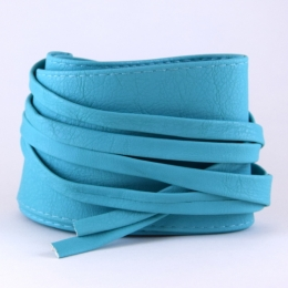 Ceinture à nouer en simili cuir, turquoise clair