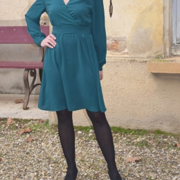 Robe cache coeur bleu canard (S et L)