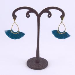 Boucles d'oreilles, petits pompons (4 coloris)