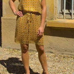 Robe fluide, dorée (S/M)