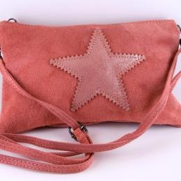 Pochette/ sac à main étoile, rose